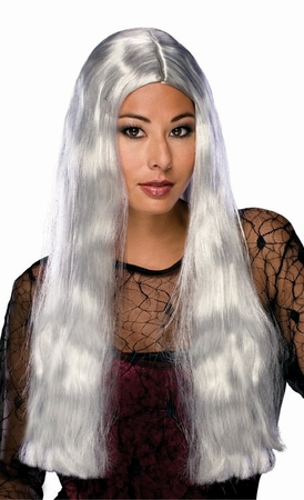 Long Grey Center Part Wig