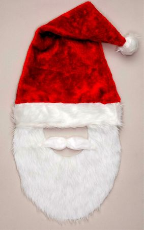 Long Santa Hat With Beard  Mustache
