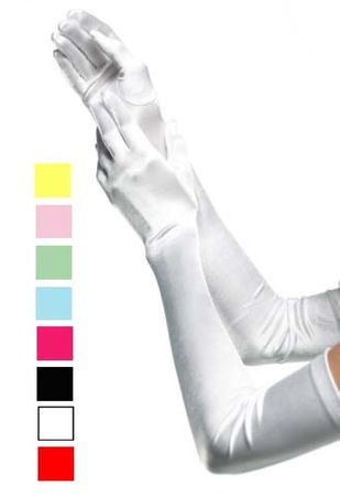 Extra Long Satin Gloves - More Colors