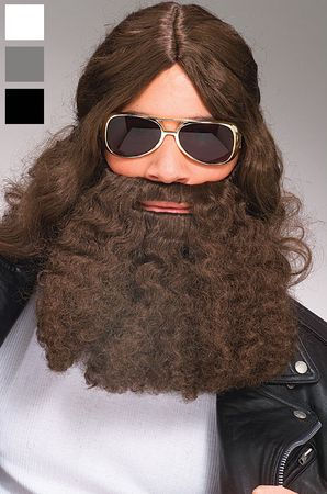 Long Wavy Beard and Mustache - More Colors