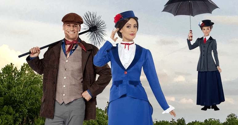Mary Poppins and Chimney Sweep Costumes