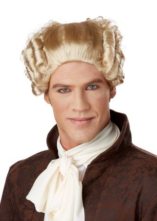 Men's 18th Century Blond Peruke Wig