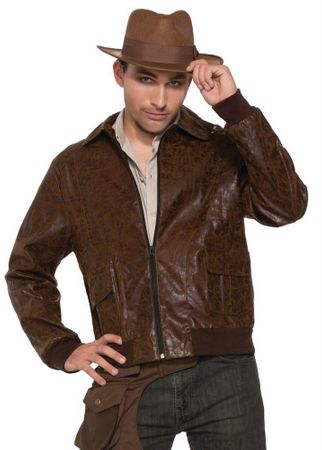 Men's 1940's Brown Bomber Jacket, Size M/L
