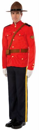 Men's Canadian Mountie Costume, Size M/L
