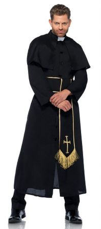 Men's Deluxe Priest Robe Costume