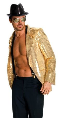 Men's Gold Sequin Jacket