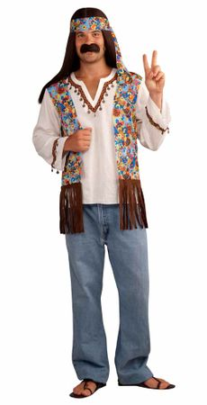 Men's Groovy Hippie Costume Set