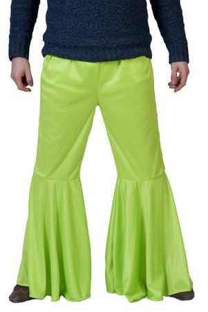Men's Lime Green Hippie Bell Bottom Pants