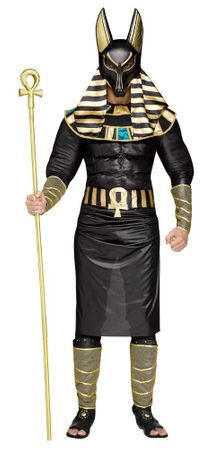 Men's Muscle Chest Anubis Egyptian God Costume