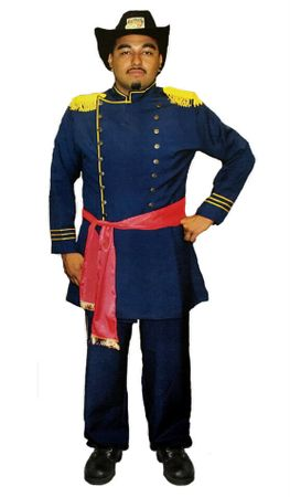 Men's Plus Size Union Officer Deluxe Costume