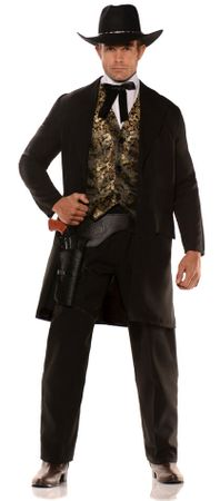 Men's Plus Size Wild West Gambler Costume
