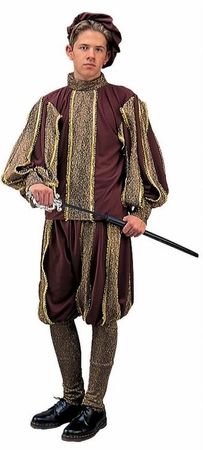 Men's Renaissance Royalty Costume, Size M/L