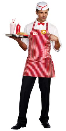Men's Retro Diner Dude Costume