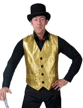 Men's Show Biz Gold Vest