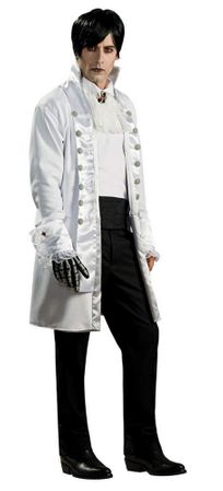 Men's White Lord Goth Costume, Size M/L