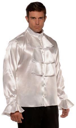 Men's White Ruffled Gothic Shirt