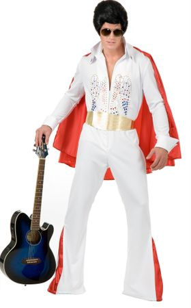 Plus Size White Rhinestone Rock Star Costume