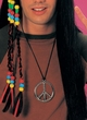Metal Peace Sign Necklace