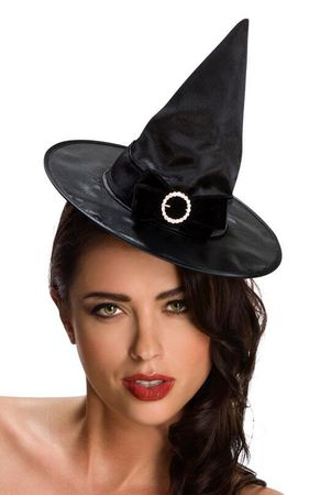 Mini Black Witch Hat With Bow