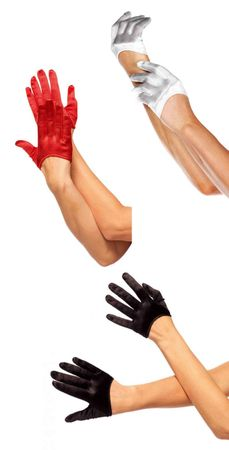 Mini Cropped Satin Gloves - More Colors