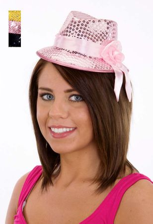 Mini Sequin Fedora Hat - More Colors