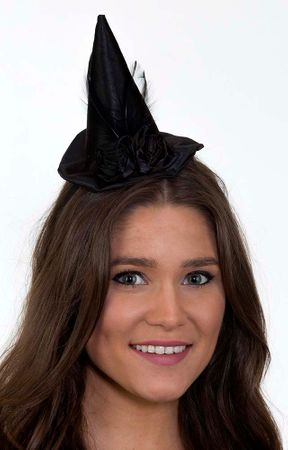 Mini Witch Hat with Black Roses