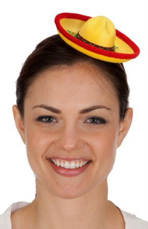 Mini Yellow Sombrero Hat