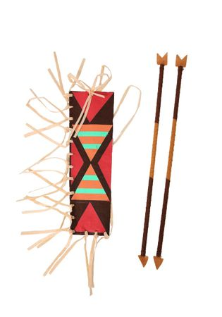 Native American Quiver and Arrows