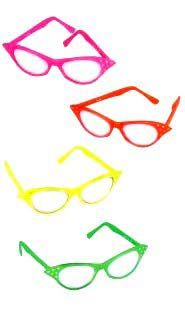 Neon Cat's Eye Glasses