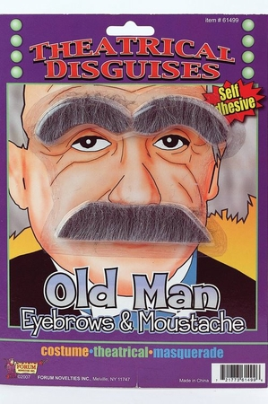 Old Man Eyebrows and Mustache Set