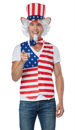 Patriot Man Uncle Sam Costume Kit