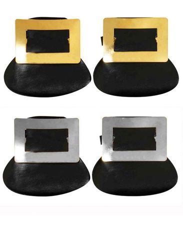 Colonial Shoe Buckles - Silver or Gold