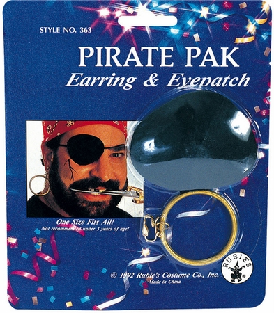 Pirate Earring  Eye Patch