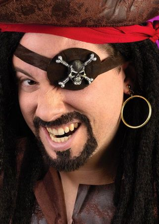 Pirate Skull Eye Patch and Earring Kit