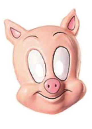 Child's Plastic Cartoon Pig Mask
