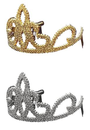 Plastic Princess Tiara - Silver or Gold