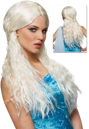 Platinum Barbarian Bride Wig