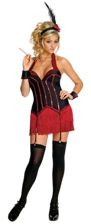 Playboy Adult Sexy Flapper Costume, Size Small