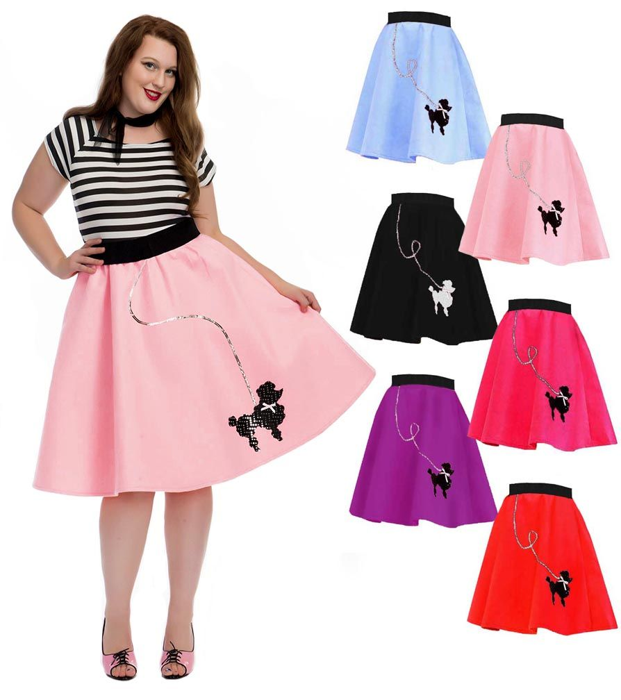 058b219b901be Plus Size 50 s Felt Poodle Skirt - More Colors - Candy Apple Costumes - 50 s  Costumes
