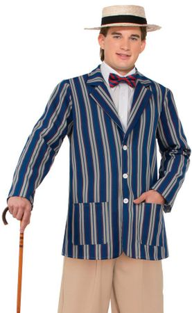 Plus Size Adult 1920's Men's Boater Jacket Costume