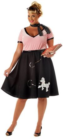 Plus Size Adult 50's Sweetheart Costume