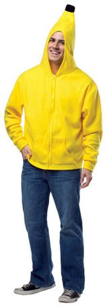 Plus Size Adult Banana Hoodie Costume