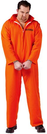 Plus Size Adult Busted Prisoner Costume