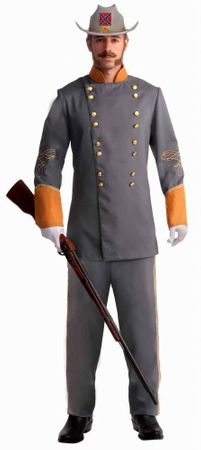 Plus Size Adult Civil War Officer Soldier Costume