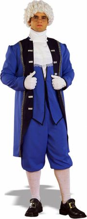 Plus Size Adult Colonial American Man Costume