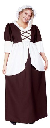 Plus Size Adult Colonial Peasant Costume