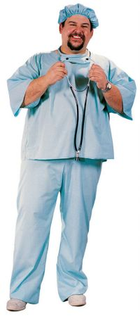 Plus Size Adult Doctor Scrubs Costume