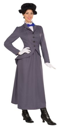 Plus Size Adult English Nanny Victorian Costume