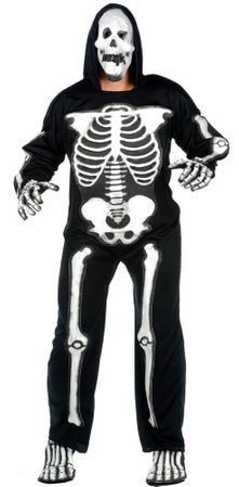 Plus Size Adult EVA Skeleton Costume With Mask
