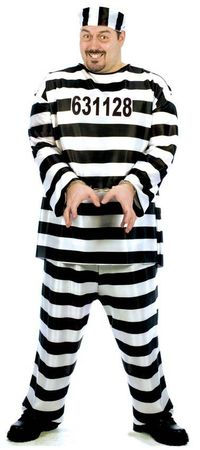 Plus Size Adult Jailbird XXXL Costume